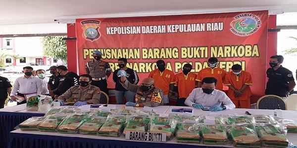 Narkotika Jenis Sabu 47 kg Dimusnahkan diPolda Kepri
